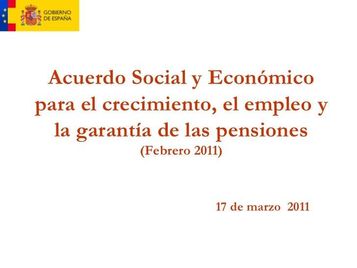 Acuerdo social y económico del Gobierno de España para el crecimiento