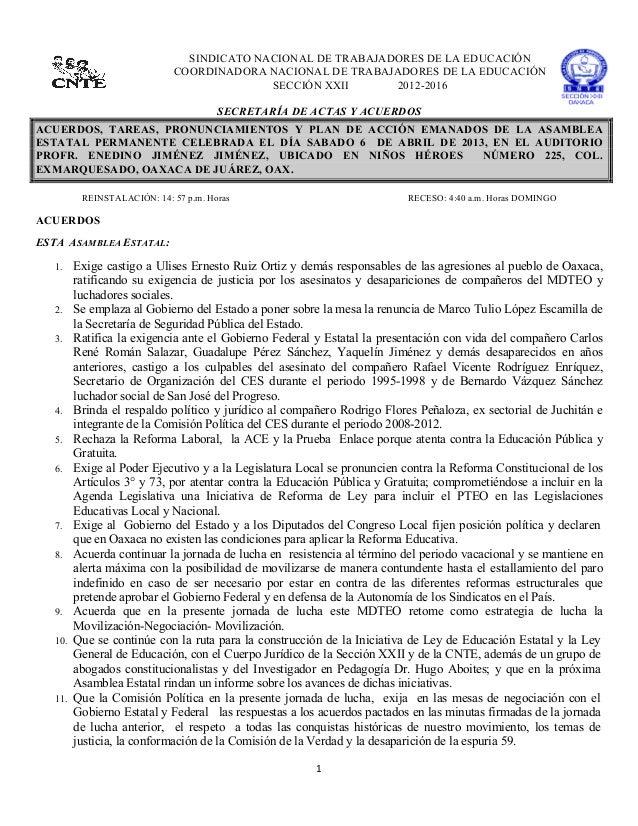 SINDICATO NACIONAL DE TRABAJADORES DE LA EDUCACIÓN                                 COO...
