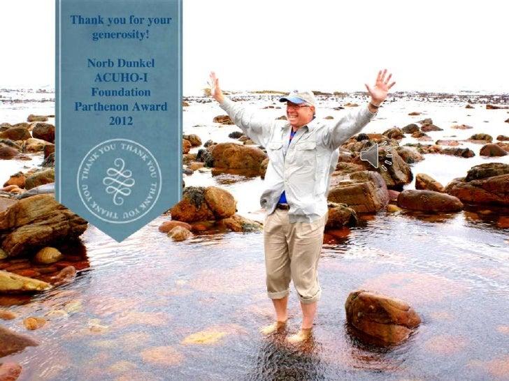 Norb Dunkel ACUHO-I Parthenon Award 2012