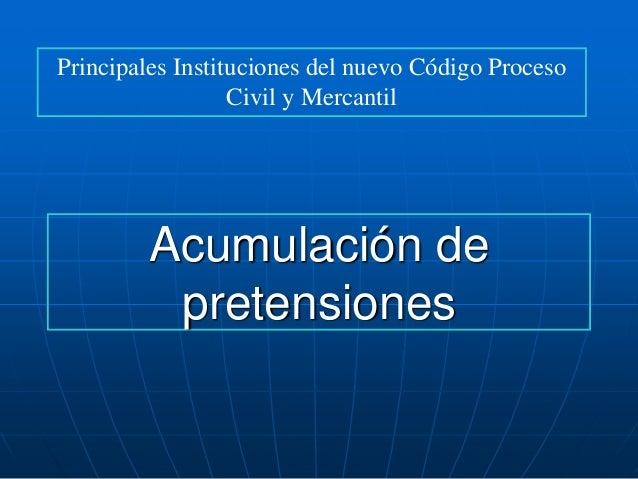 Acumulación de prentenciones