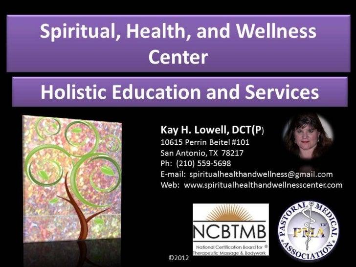 Spiritual, Health, and Wellness Center Acupressure Slideshow