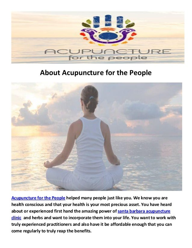 acupuncture clinic for the people santa barbara ca