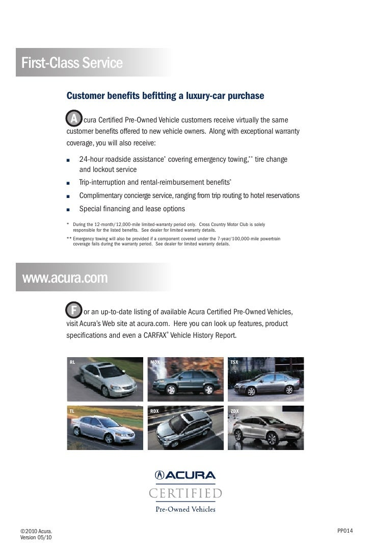 Acura Certified Pre-Owned Vehicle Brochure | DCH Acura of Temecula