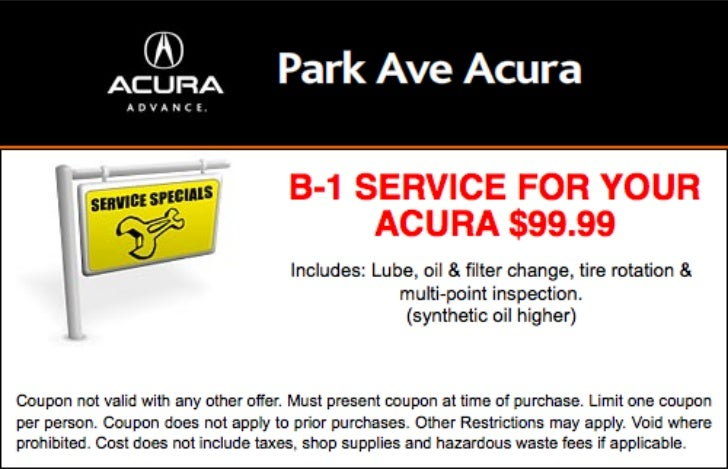 Acura Service Special NJ | Acura Dealer in New Jersey