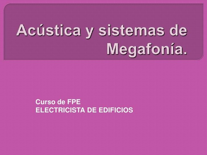 Curso de FPEELECTRICISTA DE EDIFICIOS