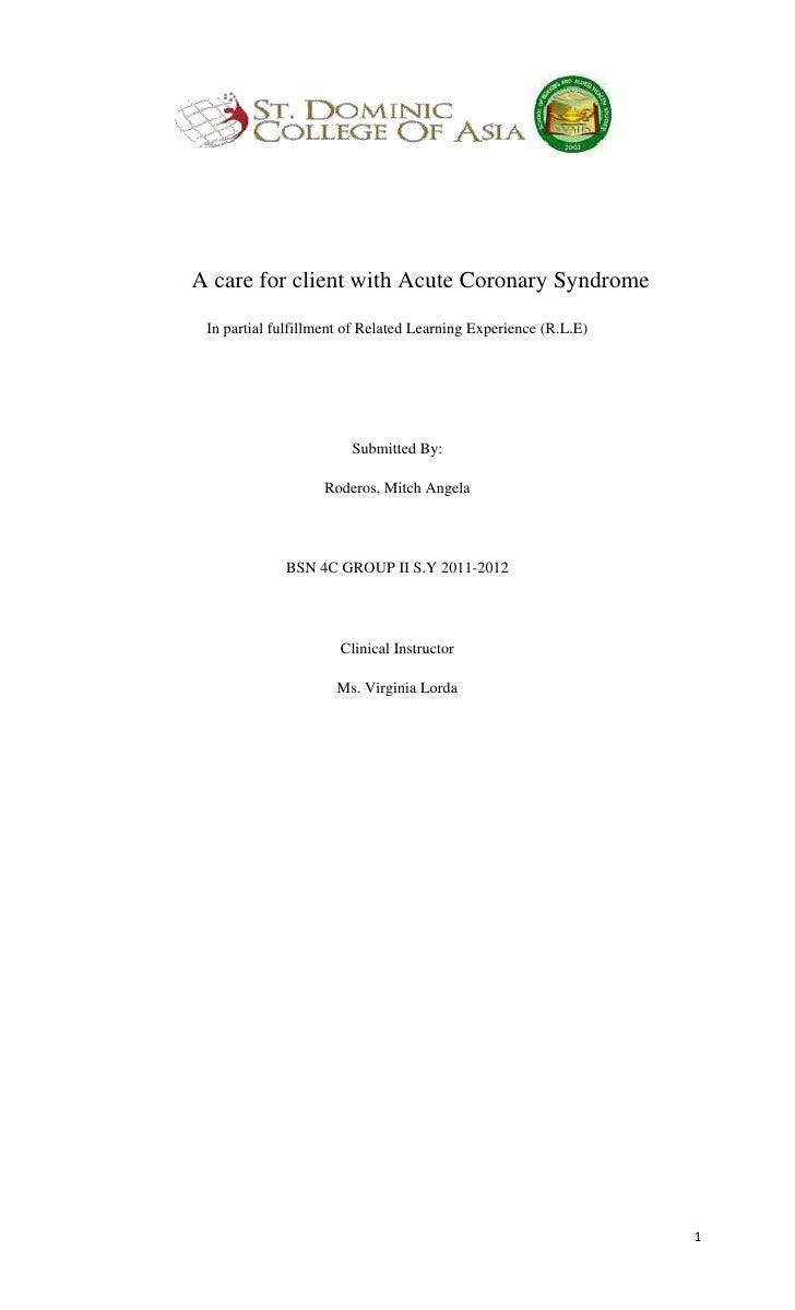 Acute coronarysyndrome