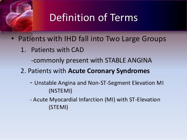 Acute coronary syndrome NSTEMI
