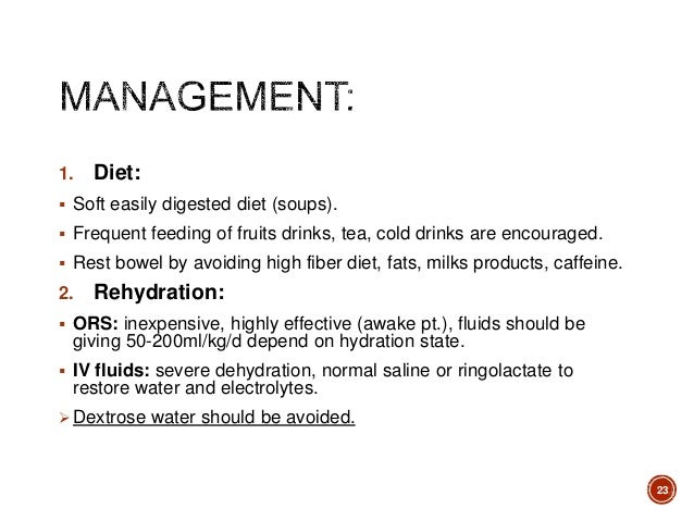 Acute Diarrhea In Inflammatory Non Inflammatory Food