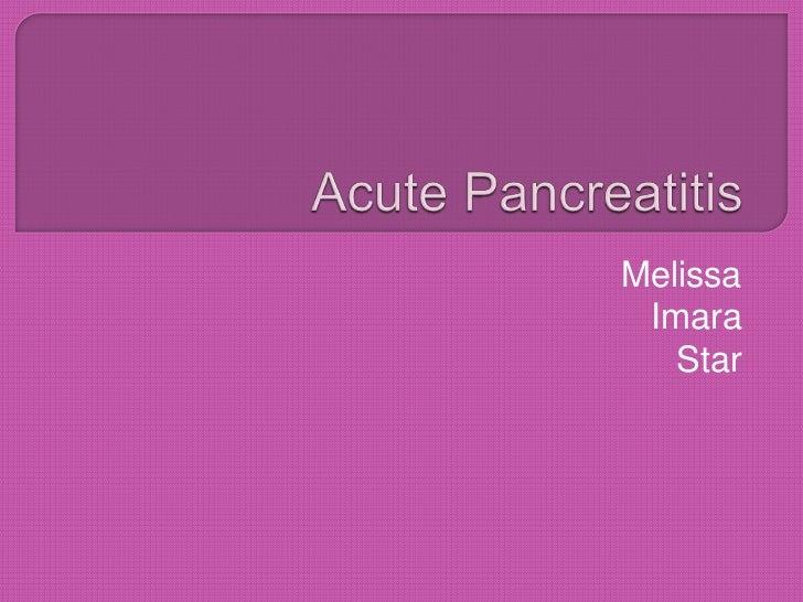 Acute Pancreatitis FORREAL FORREAL