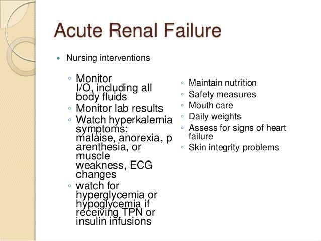 acute renal failure and nursing care essay