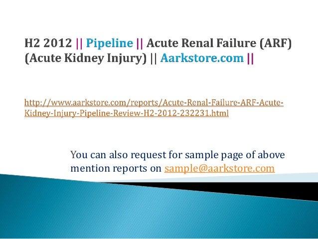 Acute renal failure (arf) (acute kidney injury)