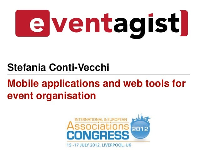 Mobile applications and web tools for event organisation