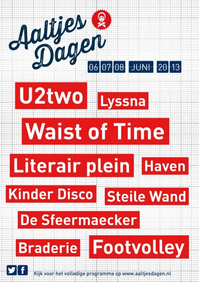 Aaltjesdagen Harderwijk Poster