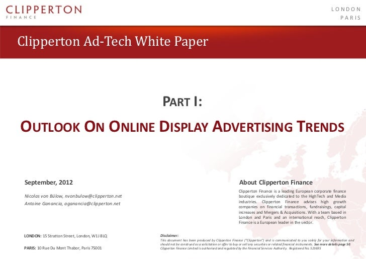 Outlook on Online Display Advertising Trends by Clipperton Finance