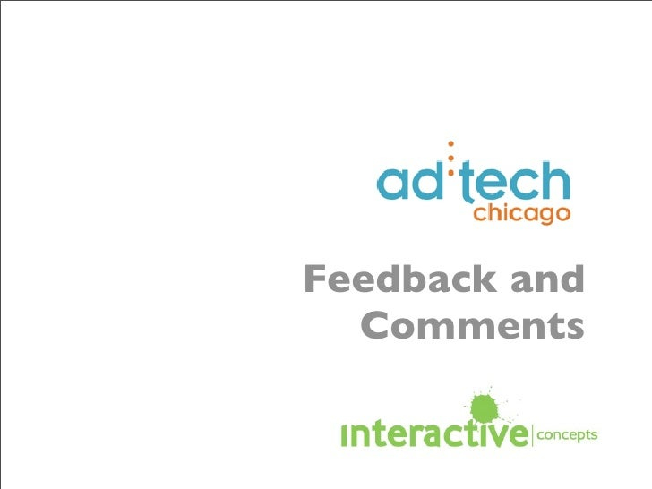 Ad Tech 2009 Feedback