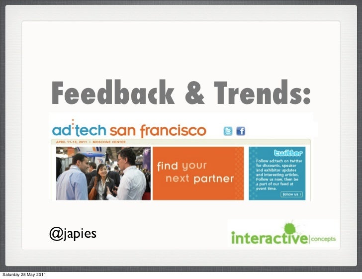 Ad Tech feedback May 2011