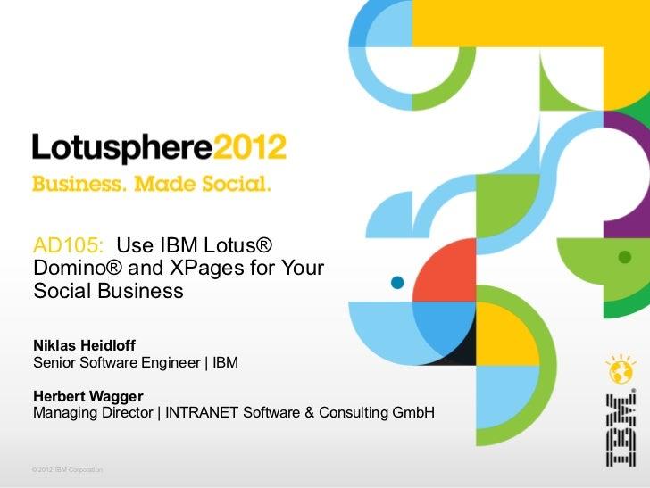 Lotusphere 2012 AD105