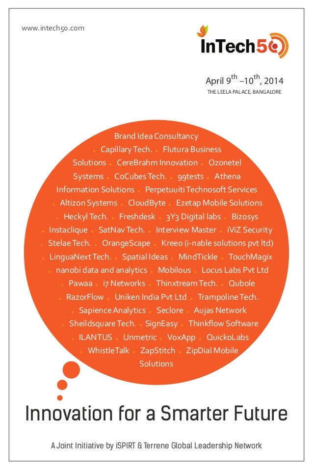 Announcing the InTech50 companies for 2014