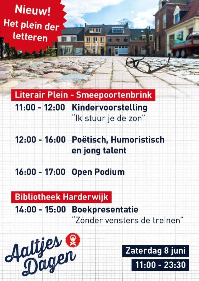 Aaltjesdagen Literair plein Harderwijk Poster, het leukste evenement van de Veluwe