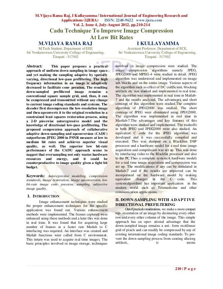 M.Vijaya Rama Raj, I Kullayamma / International Journal of Engineering Research and                  Applications (IJERA) ...