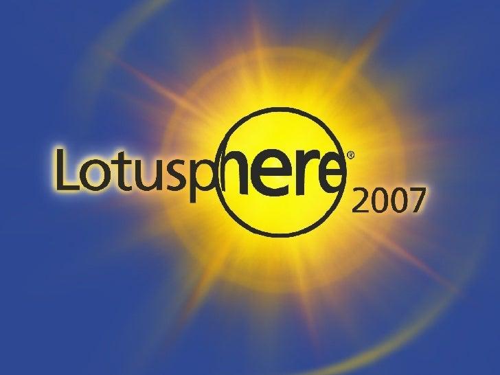 AD303: Extreme Makeover – IBM® Lotus® Domino® Application Edition