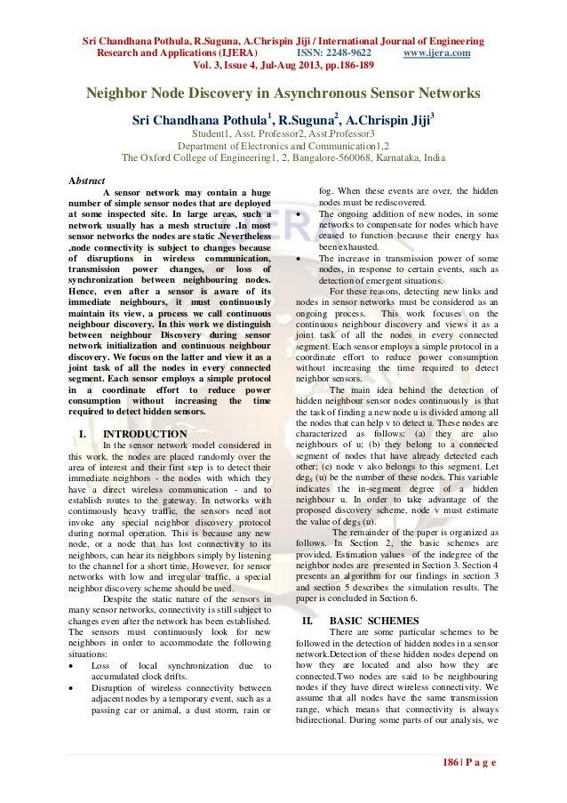 Sri Chandhana Pothula, R.Suguna, A.Chrispin Jiji / International Journal of Engineering Research and Applications (IJERA) ...