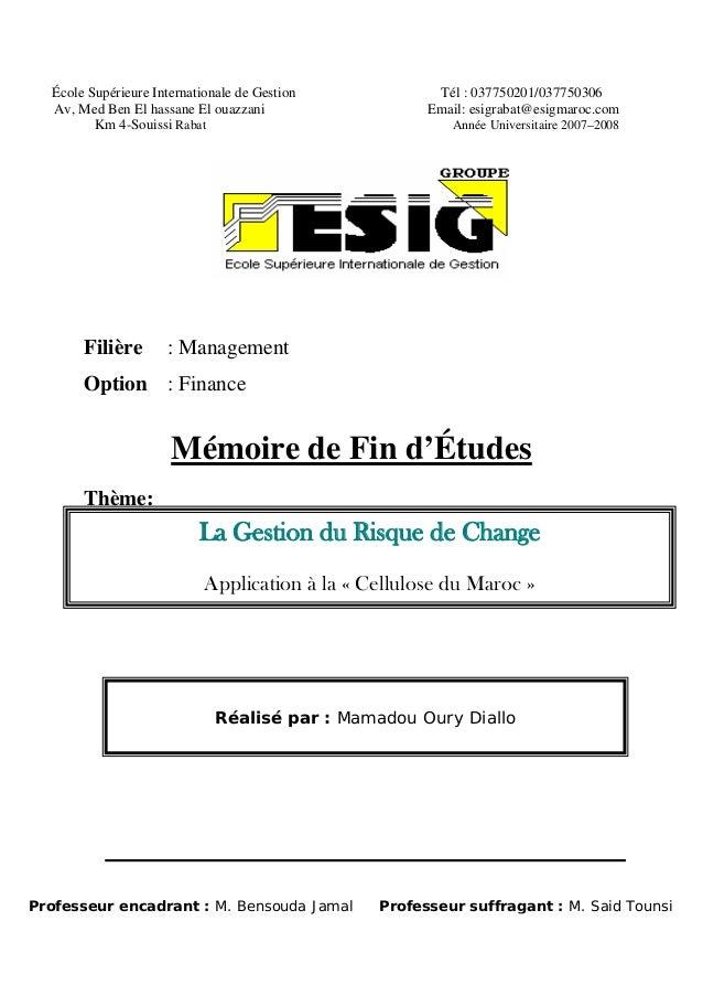 École Supérieure Internationale de Gestion Tél : 037750201/037750306 Av, Med Ben El hassane El ouazzani Email: esigrabat@e...