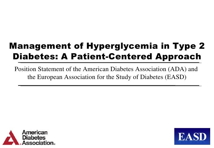 ADA EASD Position Statement  Management of Hyperglycemia in T2 DM April 2012