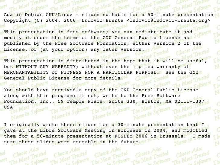 AdainDebianGNU/Linuxslidessuitablefora50minutepresentation Copyright(C)2004,2006LudovicBrenta<ludovic@l...
