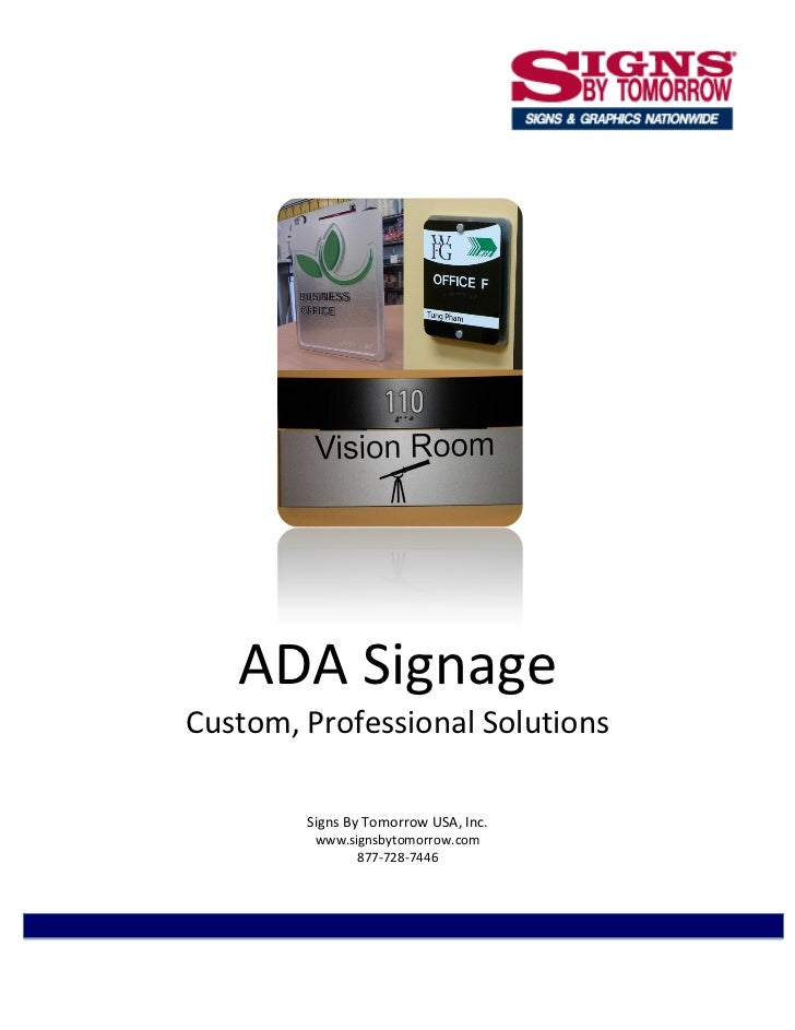 ADA Signage: Custom & Professional Solutions - A Signs By Tomorrow Whitepaper