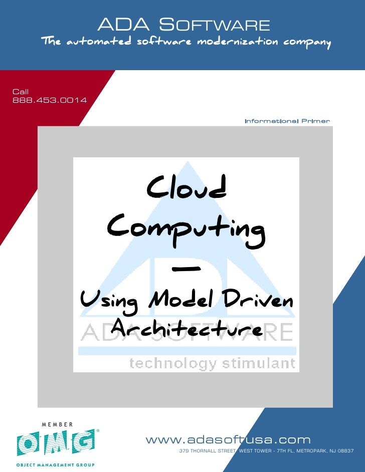 Call 888.453.0014                      ADA SOFTWARE      SOFTWARE MODERNIZATION - POWERED BY MODELING      The automated s...