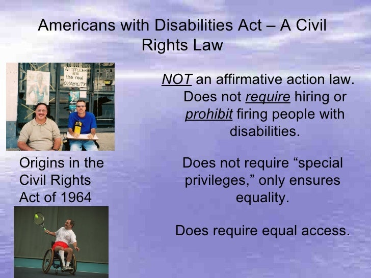 essay on american with disability act People with arthritis are protected by the american with a disability act (ada).
