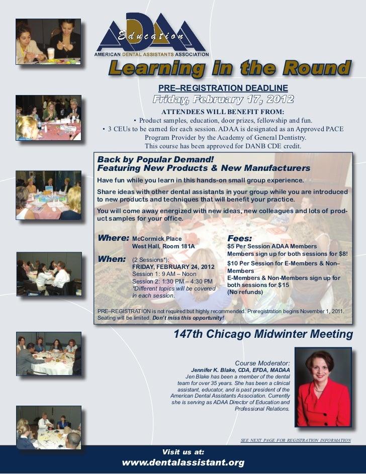 ADAARoundTable PreRegistrationForm2012_Midwinter