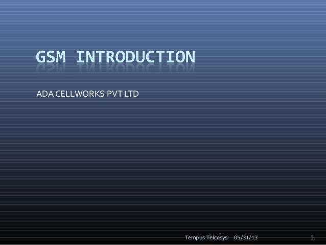 GSM Introduction