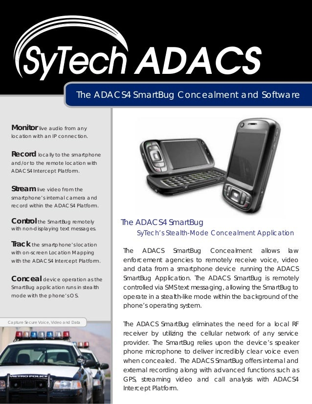 ADACS                                 The ADACS4 SmartBug Concealment and Software Monitor live audio from any location wi...