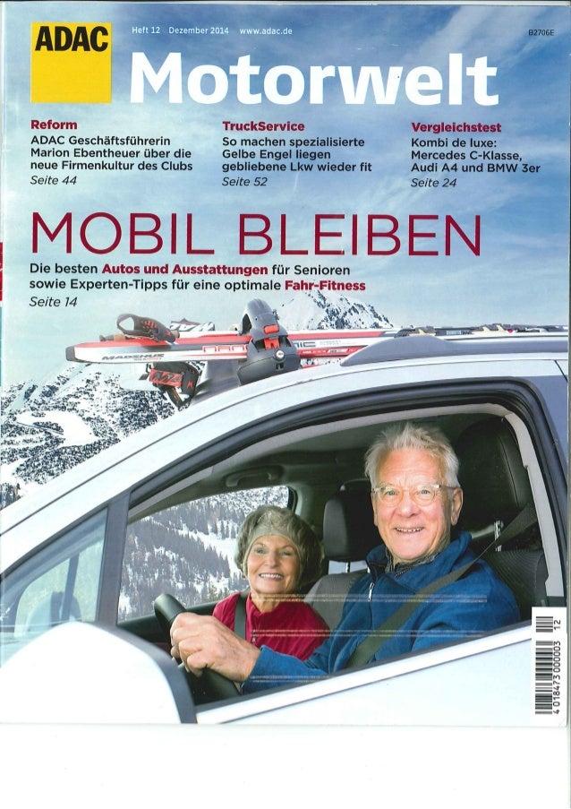 Mobil bleiben im Alter - ADAC Titelstory