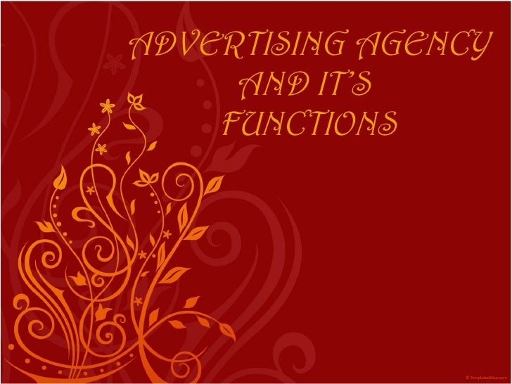 Ad agency and its functions
