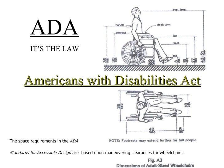 ADA dimensions  Fall 2009