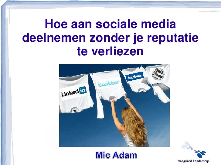 Social networking policy creator - Mic Adam