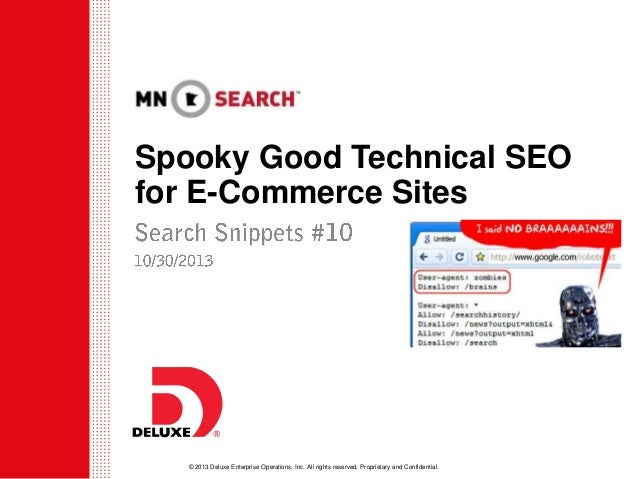 Spooky Good Technical SEO for E-Commerce Sites - Adam Dince