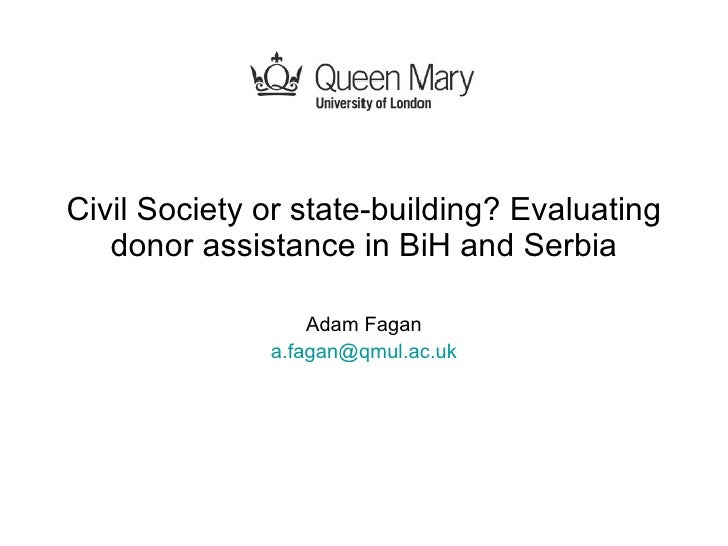 Civil Society or state-building?
