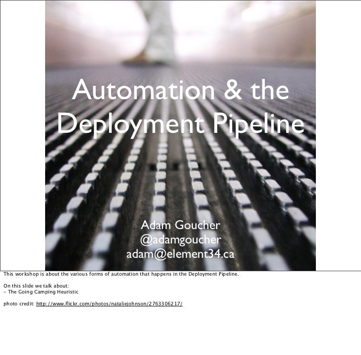 Automation and the Deployment Pipeline