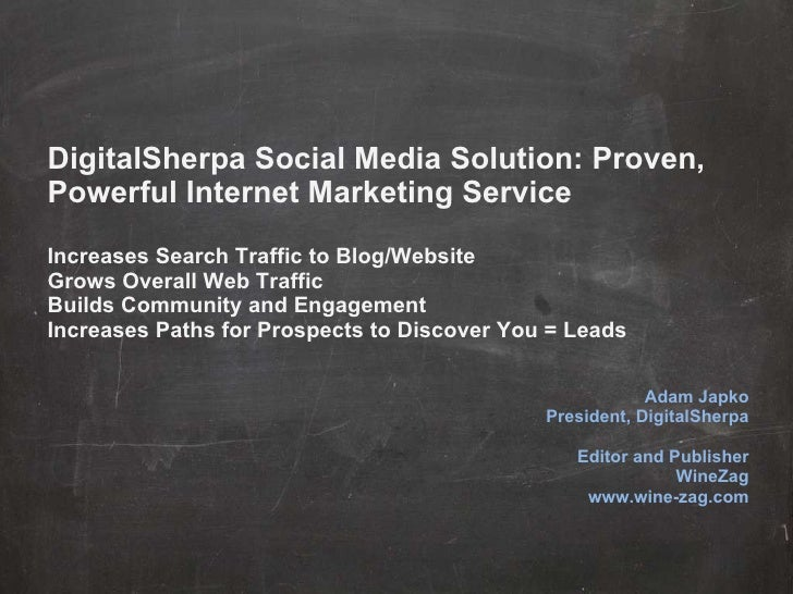 DigitalSherpa Social Media Solution: Proven, Powerful Internet Marketing Service Increases Search Traffic to Blog/Website ...