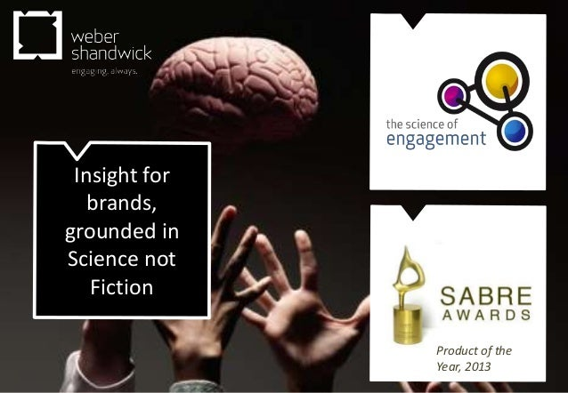 Insight for brands, grounded in Science not Fiction  Science of Engagement Product of the Year, 2013