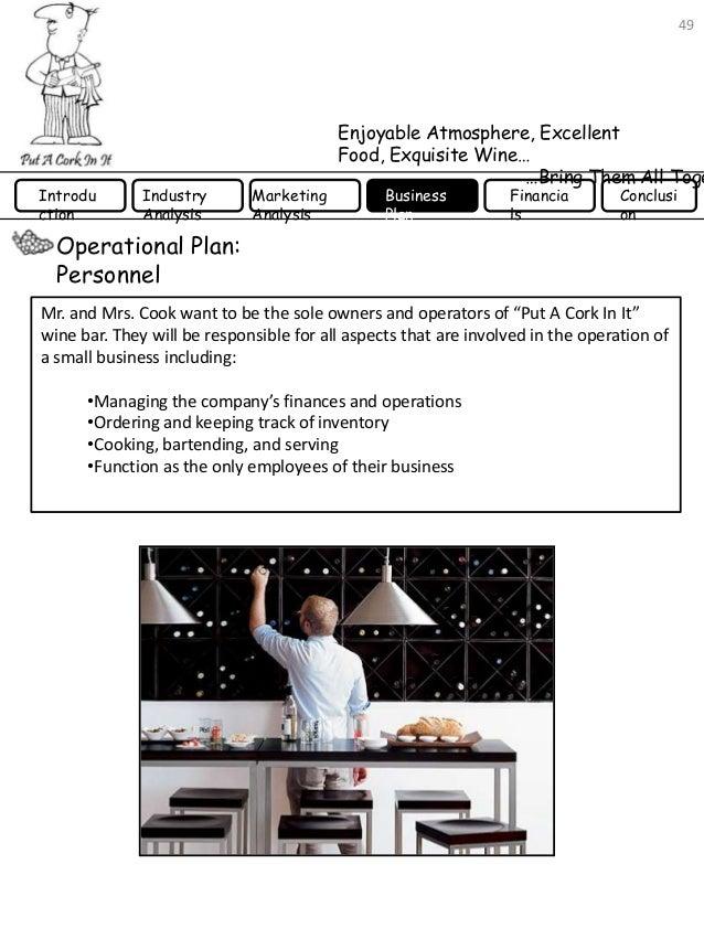 wine bar business plan pdf