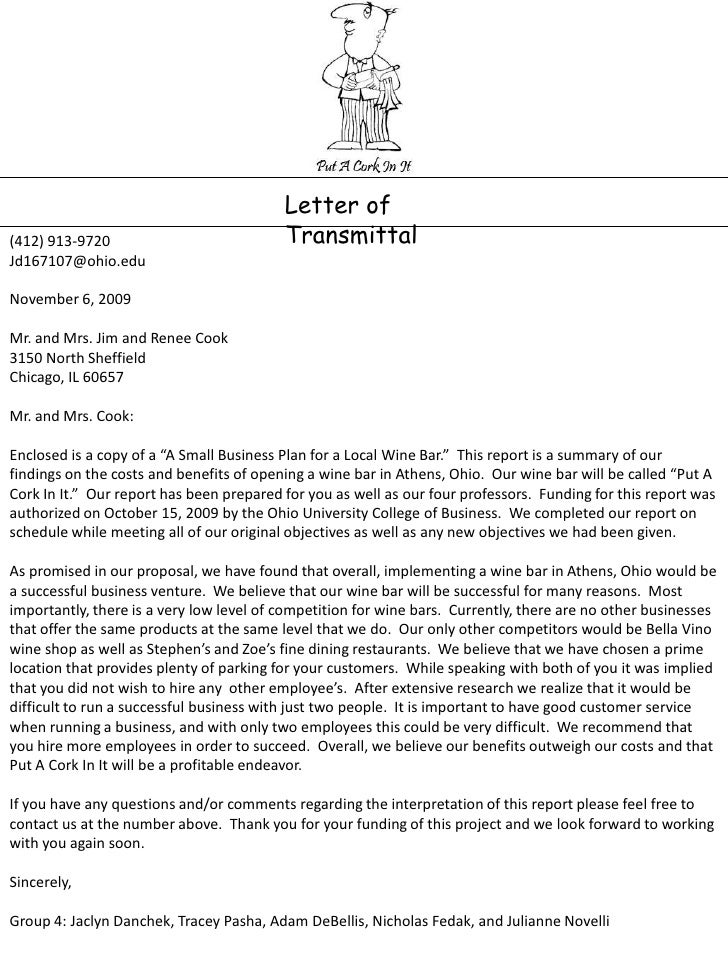 Letter transmittal example business plan voicecook letter transmittal example business plan spiritdancerdesigns Choice Image
