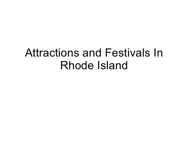 Attractions and Festivals In Rhode Island
