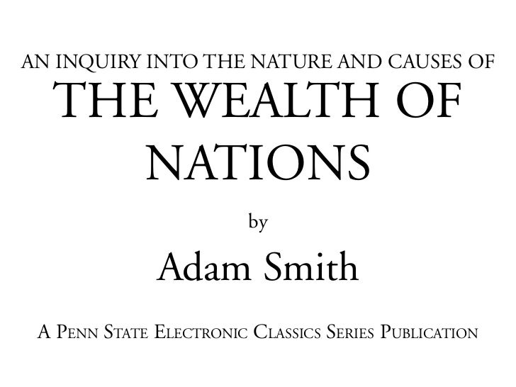 Adam smith   wealth of nations