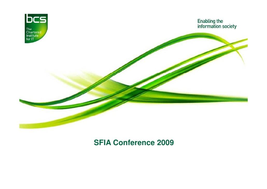 SFIA Conference 2009