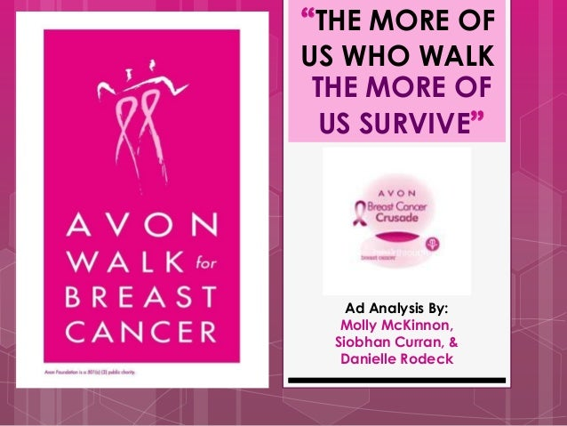 """THE MORE OFUS WHO WALK THE MORE OF  US SURVIVE""    Ad Analysis By:   Molly McKinnon,  Siobhan Curran, &   Danielle Rodeck"